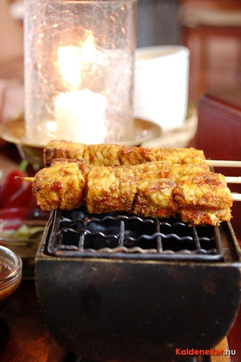 Indonéz csirke satay