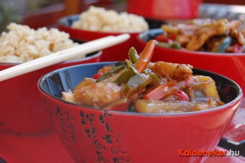 Kínai zöldséges csirke